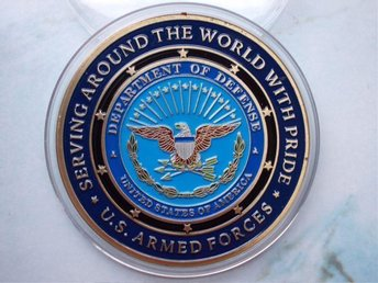 USA ARMED FORCES - MILITARY FAMILY - färgad o Bronsförgyld. - Tomelilla - USA ARMED FORCES - MILITARY FAMILY - färgad o Bronsförgyld. - Tomelilla
