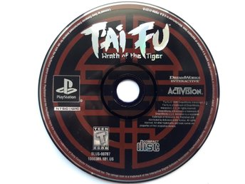 Tai Fu Wrath Of The Tiger Playstation 1 PS1 NTSC Amerikansk