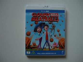 """Cludy with a chande of  meatballs""  BLU-RAY 3D ""Det regnar köttbullar..."""