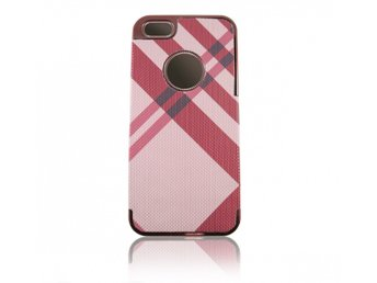 iPhone 5/5S M?nstrat Skal R?d/Rosa
