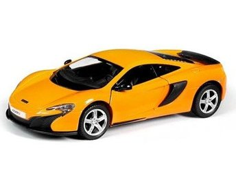 VN Cars 1:32 Bilar metall Pullback 13cm McLAREN Orange 650S 49