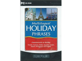 MULTILINGUAL HOLLIDAY PHRASES - 8 SPRÅK  ( PC SPEL )