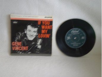 Gene Vincent    -  If You Want My Lovin  +  3             UK ORIGINAL...TOP-RARE