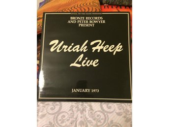"URIAH HEEP "" LIVE JANUARY 1973"", DUBBEL-LP, UK -73, TOPPEX!"