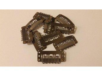 10 st clips till löshår 32mm brun - Borås - 10 st clips till löshår 32mm brun - Borås