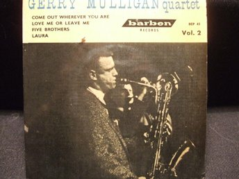 EP - THE GERRY MULLIGAN QUARTET.  Come out wherever you are + 3.