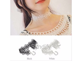 Lace Broadside Necklace + Bracelet  Vit