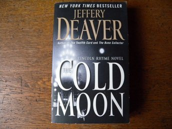The cold moon by Jeffery Deaver. Engelsk bok.