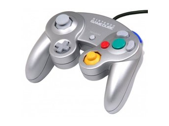 Gamecube Controller (Platinum Silver) (Official) (Beg)