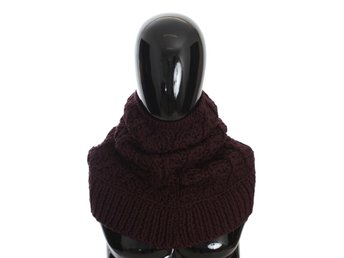 Dolce & Gabbana - Bordeaux Wool Knitted Scarf