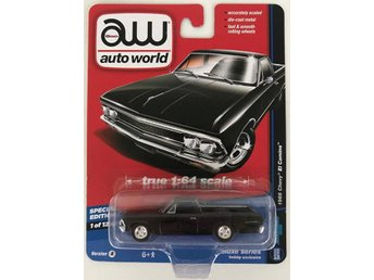1966 Chevrolet El Camino Pickup 1/64 Auto World svart