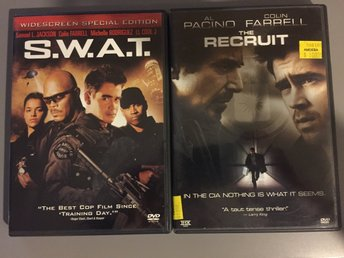 2 DVD USA - S.W.A.T - The recruit - Colin Farrell