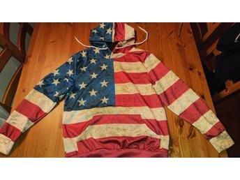 Huvtröja med USA tryck.. (353963105) ᐈ Köp på Tradera