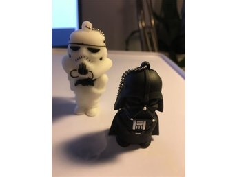 NYA!! 2st 16GB Star Wars Darth Vader och Stormtooper USB-Minnen