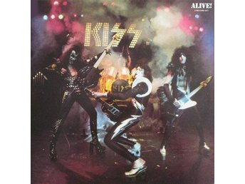 Kiss -Alive DLP yellow Casablanca labels Holland gatefold