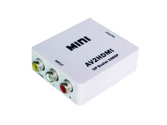 Mini Composite RCA CVBS AV 1080P Converter Adapter audio video av-HDMI scaler