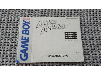 Manual – Marble Madness till GB Game Boy