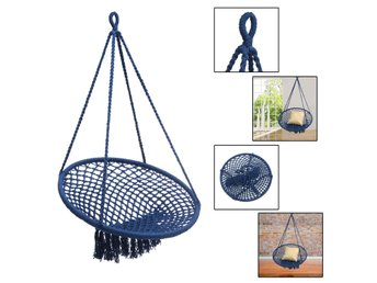 Outdoor Mesh Hanging Chair Cotton Swing Hammock Camping G...