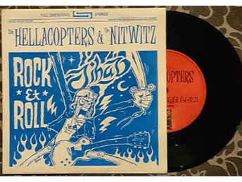 "THE HELLACOPTERS / THE NITWITZ "" ROCK & ROLL JIHAD"" SPLIT ""7, 500Ex  EX/NM"