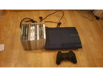 Sony PS3 Playstation 3 Superslim 500GB 11Spel 1Hk -1kr-