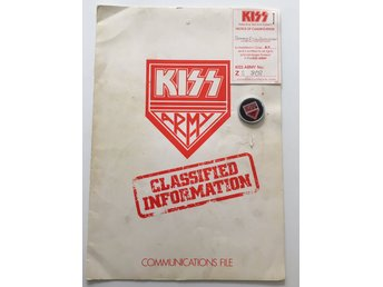 KISS Army members folder + pin ca 1980
