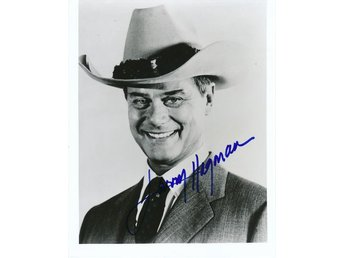 LARRY HAGMAN AMERICAN FILM & TV ACTOR *DALLAS* J.R. EWING AUTOGRAF FOTO
