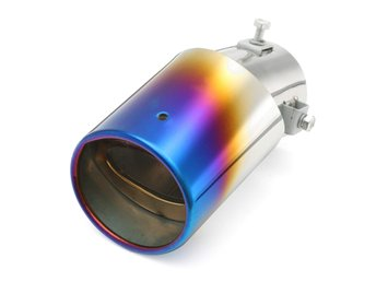 63mm Inlet Car Exhaust Muffler Tip Pipe Stainless Steel C...
