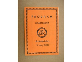Rally Program Molkom Brukssprinten 5/5 2001