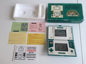 Game & Watch Multi Screen Green House Nintendo Org Kartong
