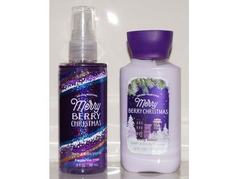 Bath & Body Works MERRY BERRY CHRISTMAS Travel Size Body Lotion & Fragrance Mist