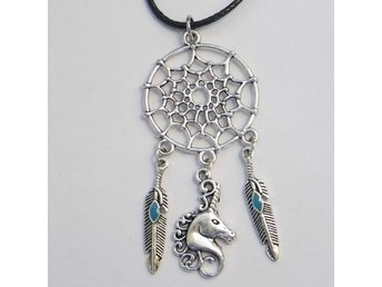 Enhörning drömfångare halsband / Unicorn dreamcatcher necklace