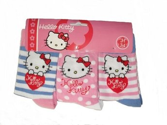 Hello Kitty Strumpor 3-Pack stl 27/30