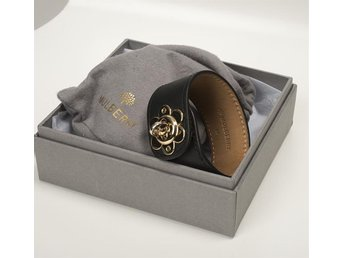 Mulberry Cecily Flower svart armband stl M