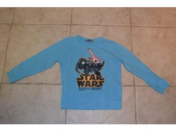 Långärmad ljusblå tröja Stars Wars Darth Vader från HM stl 122/128 - Katrineholm - Långärmad ljusblå tröja Stars Wars Darth Vader från HM stl 122/128 - Katrineholm