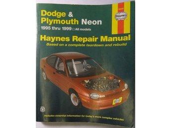 1995-1999 Dodge Plymouth Neon Repair Manual Verkstadshandbok - Tavelsjö - 1995-1999 Dodge Plymouth Neon Repair Manual Verkstadshandbok - Tavelsjö