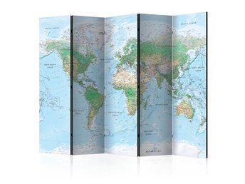 Rumsavdelare - World Map Room Dividers 225x172