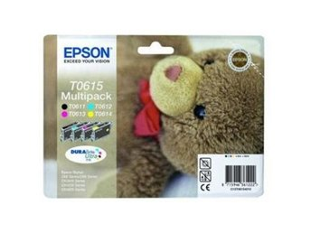 Bläckpatron Epson C13T06154010 Multipack T0611 Black, T0612 Cyan, T0613 Magenta,