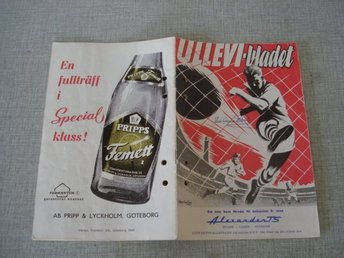Ullevi bladet Göteborg Landskamp Sverige Portugal 1959 program reklam grafik
