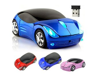 New 3D Car Voiture Shaped 2.4GHz Opti...