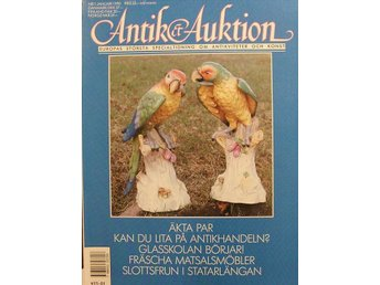 Antik&Auktion 1990/1.Stafsund. Wine-coaster. Glas. Skäktkniv.Jugend.
