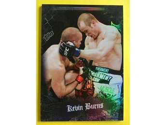 KEVIN BURNS: 2010 Topps UFC Main Event Black #107 188ex
