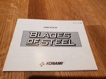 Blades Of Steel SCN Manual Nintendo 8-bit NES