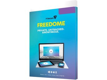 F-Secure Freedome, 1 år 5 enheter, nordic, retail Box