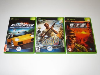 3 spel: Medal of Honor Rising Sun/Vietcong/Need for Speed