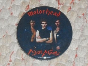 MOTÖRHEAD - 4,5 cm- Badge/ Pin/ Knapp (Lemmy, Thin Lizzy, Iron Fist, Perfect Day