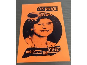 SEX PISTOLS GOD SAVE THE QUEEN 1977 PHOTO POSTER