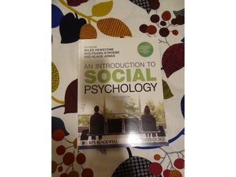 An introduction to social psychology 5:e upplagan