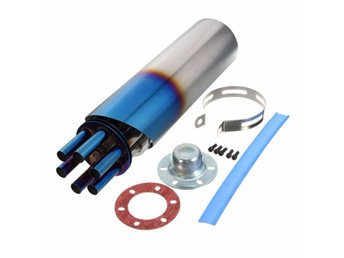 100mm Grilled Blue Stainless Rotating Slip-on Exhaust Muf...