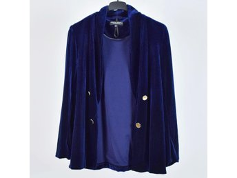 blå sammetskavaj dam