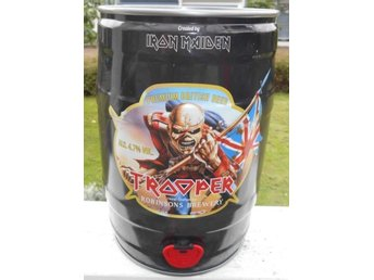 IRON MAIDEN TROOPER 5 LITERS ÖLBURK LIM EDITION RARE BURKEN ÄR TOM!